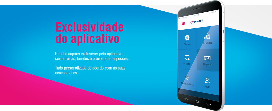 Exclusividade-Farma100-Farmacia-Aplicativo-Smartphone-Iphone-Android